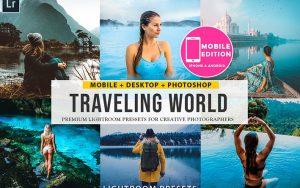 54 پریست رنگی لایت روم حرفه ای مسافرت Traveling lightroom presets