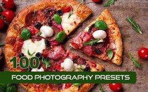 100 پریست لایت روم مواد غذایی حرفه ای Food Photography Presets