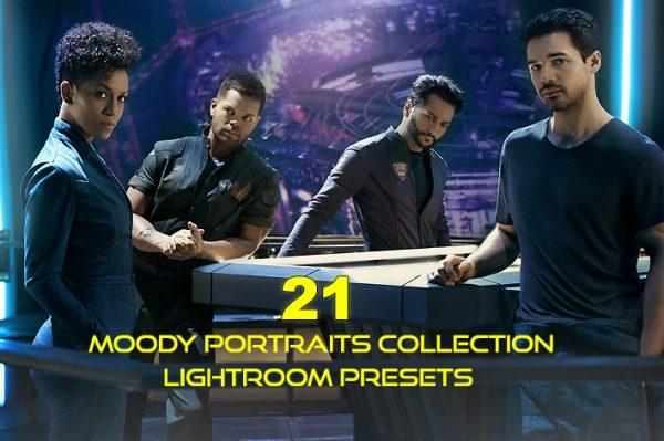 21 پریست رنگی سینمایی پرتره لایت روم Moody Portraits Collection Lightroom Presets (1)