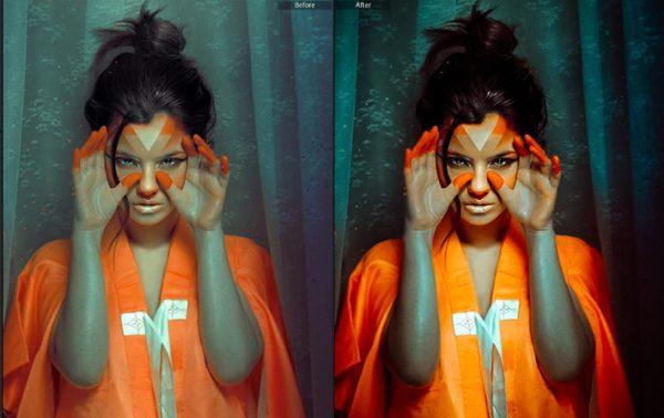 21 پریست رنگی سینمایی پرتره لایت روم Moody Portraits Collection Lightroom Presets