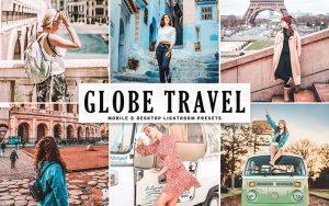 34 پریست لایت روم و کمرا راو و اکشن فتوشاپ تم جهانگردی Globe Travel Lightroom Presets