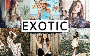 34 پریست لایت روم و کمرا راو و اکشن فتوشاپ تم خوشرنگ Exotic Lightroom Presets