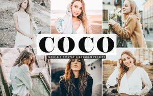 34 پریست لایت روم و کمرا راو و اکشن فتوشاپ تم کاکائو Coco Lightroom Presets