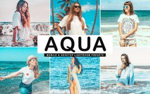 34 پریست لایت روم و کمرا راو و اکشن کمرا راو فتوشاپ تفریحات ساحلی Aqua Lightroom Presets