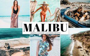 34 پریست لایت روم و Camera Raw و اکشن کمرا راو فتوشاپ تم ملیبو Malibu Lightroom Presets