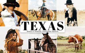 34 پریست لایت روم و Camera Raw و اکشن کمرا فتوشاپ تم تگزاس Texas Lightroom Presets