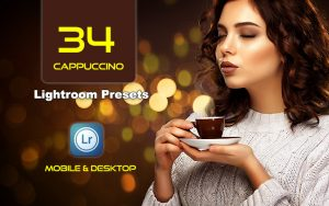 34 پریست لایت روم پرتره و کمرا راو و اکشن کمرا راو فتوشاپ کاپوچینو Cappuccino Lightroom Presets