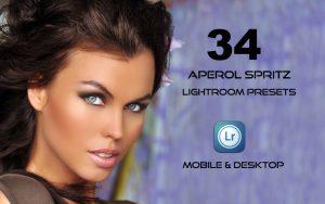 34 پریست لایت روم پرتره و کمرا راو و اکشن کمرا راو فتوشاپ Aperol Spritz Lightroom Presets