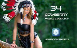 34 پریست لایت روم پرتره و کمرا راو و اکشن کمرا راو فتوشاپ Cowberry Lightroom Presets