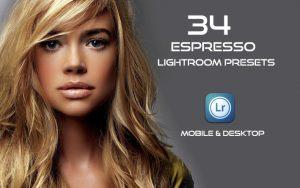 34 پریست لایت روم پرتره و کمرا راو و اکشن کمرا راو فتوشاپ Espresso Lightroom Presets