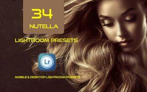 34 پریست لایت روم پرتره و کمرا راو و اکشن کمرا راو فتوشاپ Nutella Lightroom Presets