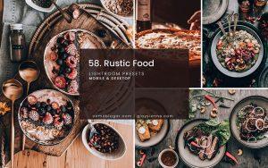 دانلود 8 پریست لایت روم تم مواد غذایی روستایی Rustic Food