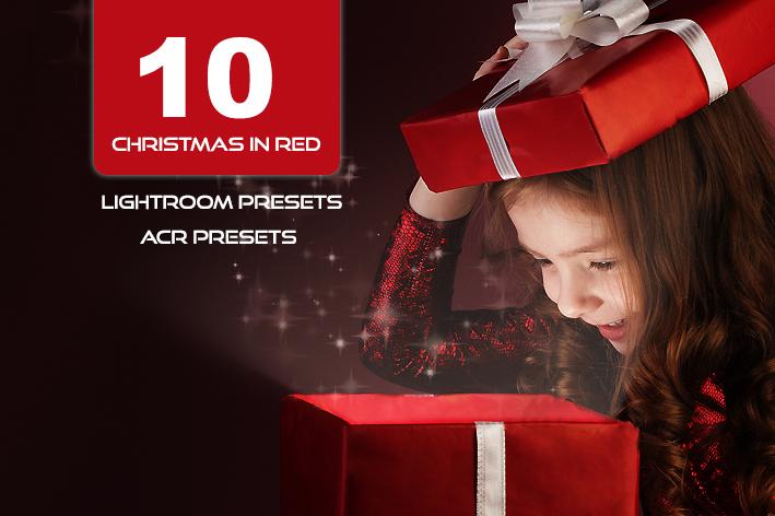10 پریست لایت روم و پریست کمراراو تم کریسمس Christmas In Red Lightroom Presets