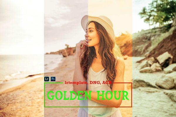 112 پریست لایت روم رنگی طلایی و پریست کمراراو Golden Hour Lightroom ACR Presets