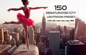 150 پریست لایت روم و لات رنگی تم شهری Desaturated City Lightroom Preset