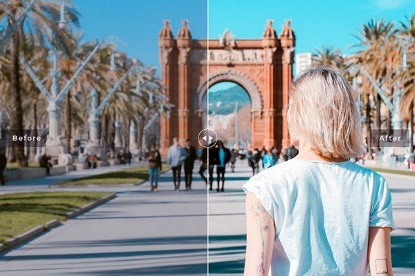 34 پریست لایتروم و Camera Raw و اکشن کمرا راو فتوشاپ تم بارسلون Barcelona Lightroom Presets