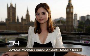 34 پریست لایتروم و Camera Raw و اکشن کمرا راو فتوشاپ تم لندن London Lightroom Presets