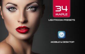 34 پریست لایت روم و کمراراو پرتره و اکشن کمرا راو فتوشاپ Maple Lightroom Presets