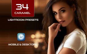 34 پریست لایت روم پرتره و کمرا راو و اکشن کمرا راو فتوشاپ کارامل Caramel Lightroom Presets