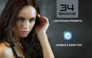 34 پریست لایت روم پرتره و کمرا راو و اکشن کمرا راو فتوشاپ Brownie Lightroom Presets