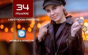 34 پریست لایت روم پرتره و کمرا راو و اکشن کمرا راو فتوشاپ Frappe Lightroom Presets