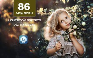 86 پریست لایت روم نوزاد و کودک و پریست کمراراو New Born LR Mobile and ACR Presets