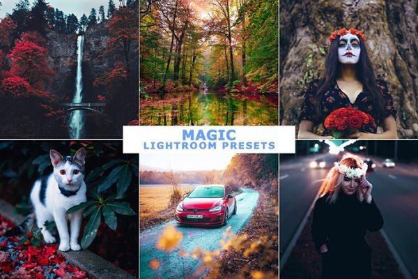10 پریست لایت روم حرفه ای تم رنگ جادویی Magic Lightroom Presets