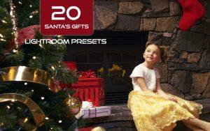 20 پریست لایت روم حرفه ای تم هدیه کریسمس Santa's Gifts Lightroom Presets