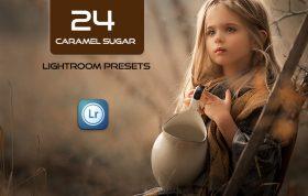 24 پریست لایت روم رنگی تم قهوه ای کارامل Caramel Sugar Lightroom Presets