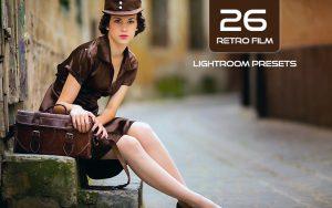 26 پریست لایت روم سینمایی افکت فیلم قدیمی RETRO FILM Lightroom Presets Pack