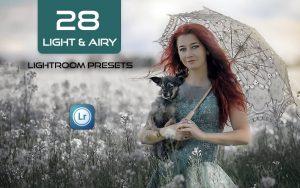 28 پریست لایت روم حرفه ای تم رنگی روشن Light & Airy Lightroom presets