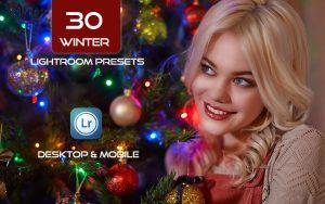 30 پریست لایت روم کریسمس و زمستان Winter Lightroom Presets