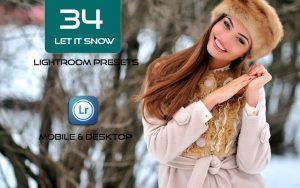 34 پریست لایت روم زمستان و Camera Raw و اکشن کمرا راو فتوشاپ Let It Snow Lightroom Presets