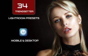 34 پریست لایت روم و کمراراو پرتره و اکشن کمرا راو فتوشاپ Trendsetter Lightroom Presets