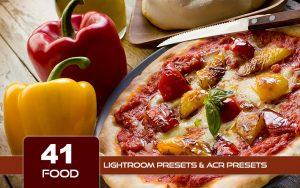 41 پریست لایت روم مواد غذایی و پریست کمراراو Food Lightroom Presets ACR Presets