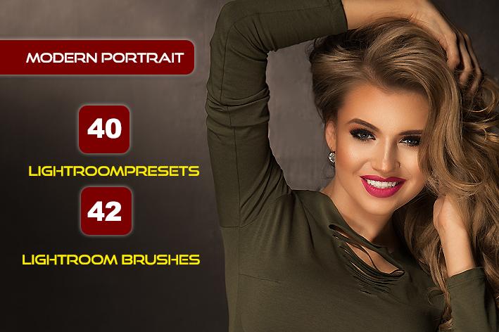 82 پریست لایت روم پرتره و براش لایت روم Modern Portrait Presets Lightroom