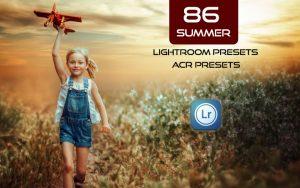 86 پریست لایت روم تابستان و پریست کمراراو Summer Lightroom ACR Presets