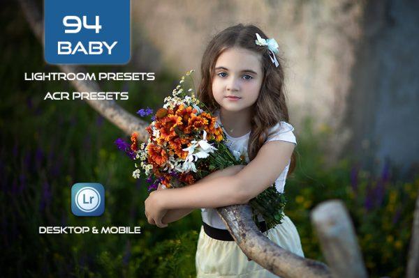 94 پریست لایت روم کودک و پریست کمراراو Baby LR Mobile and ACR Presets
