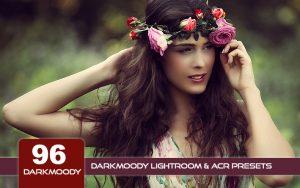 96 پریست لایت روم رنگی تیره و پریست کمراراو Darkmoody Lightroom ACR Presets