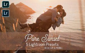 10 پریست لایت روم حرفه ای تم غروب عاشقانه Pure Sunset Lightroom Presets