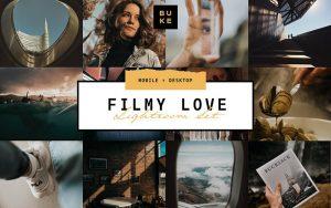 10 پریست لایت روم حرفه ای رنگی فیلم Film Lightroom Presets Bundle
