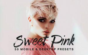 150 پریست لایت روم و لات رنگی تم صورتی شیرین Sweet Pink Lightroom Presets LUTs