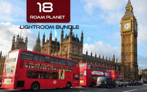 18 پریست لایت روم حرفه ای مسافرت Roam Planet Lightroom Bundle