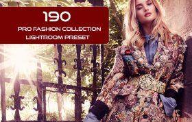 190 پریست لایت روم حرفه ای فشن Pro Fashion Collection Lightroom Preset