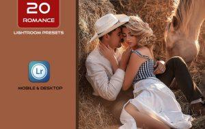 20 پریست لایت روم حرفه ای تم رنگی رمانتیک Romance Lightroom Presets