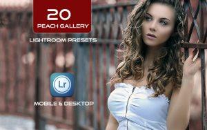 20 پریست لایت روم حرفه ای 2021 تم دختر زیبا Peach Gallery Lightroom Presets