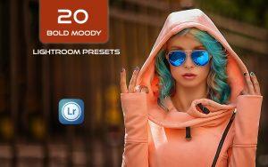 20 پریست لایت روم رنگی حرفه ای Bold Moody Lightroom Presets