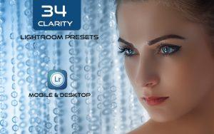 34 پریست لایت روم پرتره و Camera Raw و اکشن کمرا راو فتوشاپ تم شفافیت Clarity Lightroom Presets