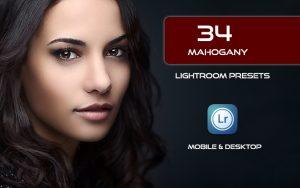 34 پریست لایت روم پرتره و Camera Raw و اکشن کمرا راو فتوشاپ Mahogany Lightroom Presets