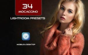 34 پریست لایت روم پرتره و Camera Raw و اکشن کمرا راو فتوشاپ Mocaccino Lightroom Presets